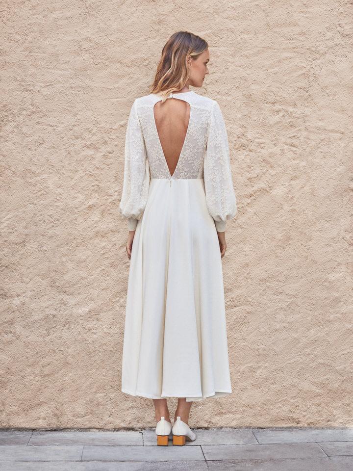 back Civil wedding dress
