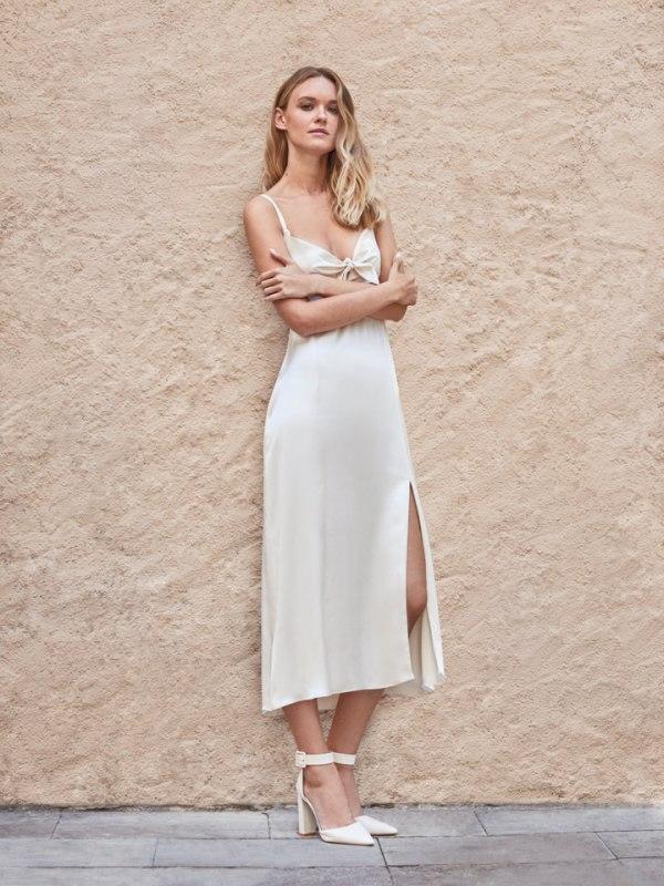 Satin pret-a-porter wedding dress