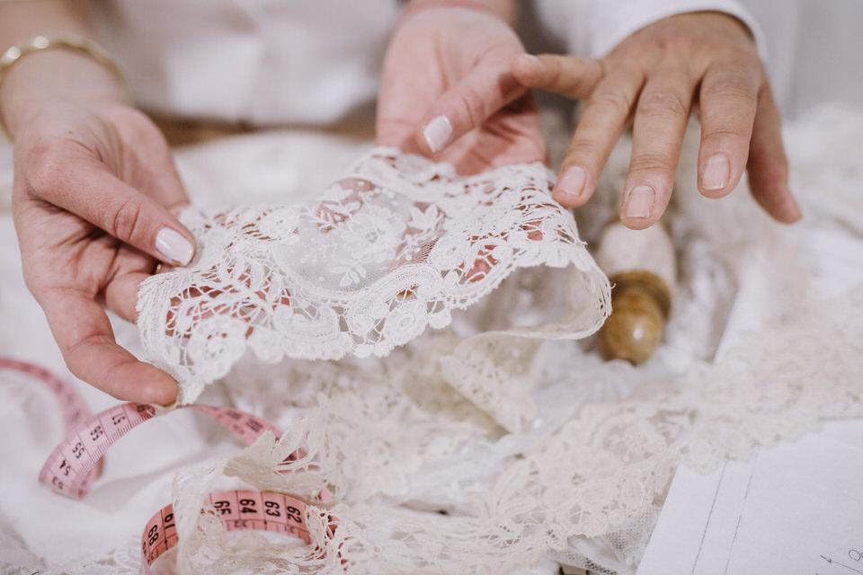 Lace Duquesas-sustainable wedding dress