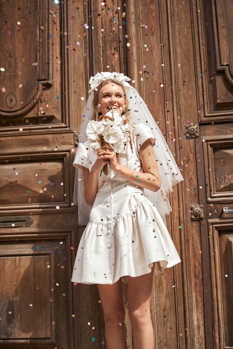 Short vintage wedding dress LArca Barcelona