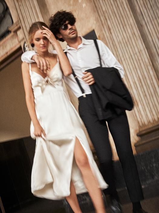 Vintage cape wedding dress