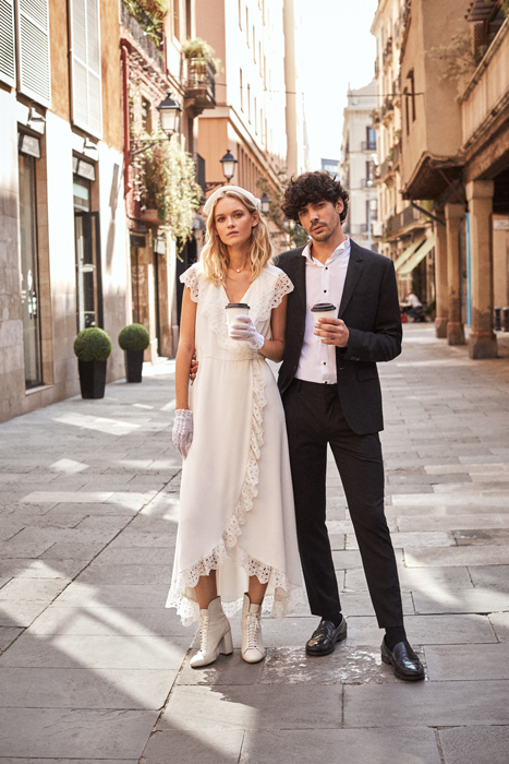 Urban vintage wedding dress