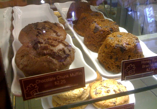 Chocolate Chunk Muffins, Oatmeal Raisin Cookie