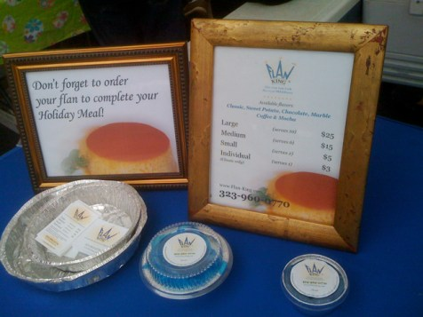 Flan King at Larchmont Farmer Market