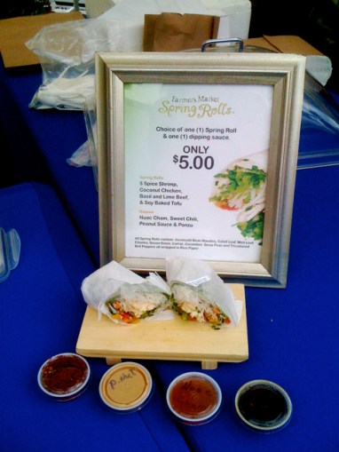 Spring Rolls at Larchmont Farmers Market