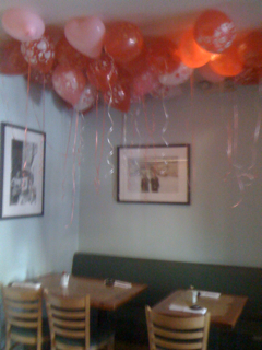 Valentine Balloons at California Roll and Sushi