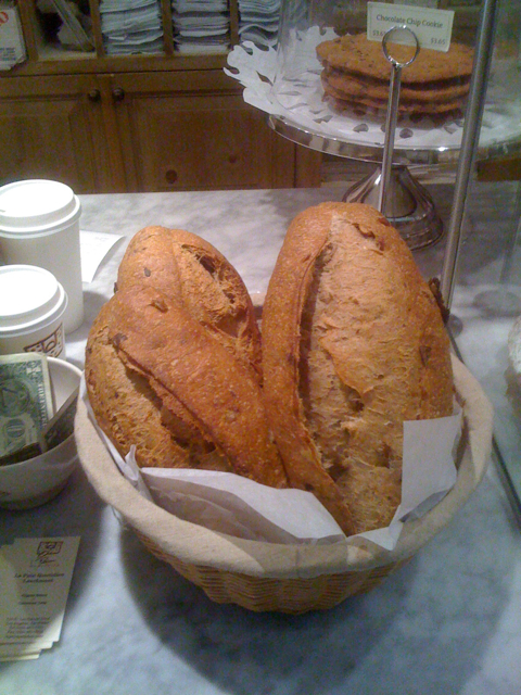 Olive Bread Loaves at Le Pain Quotidien