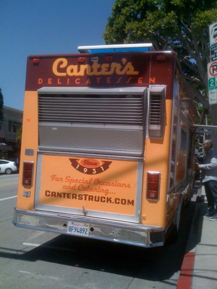 Canter's Truck Parked in Larchmont Village