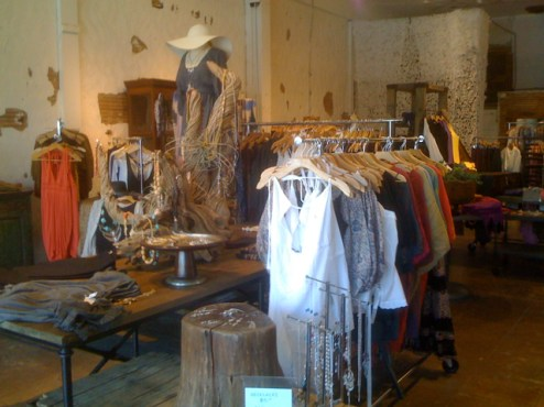 Inside Unnamed Larchmont Clothing Store