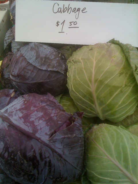 Cabbage at Larchmont Farmers Market