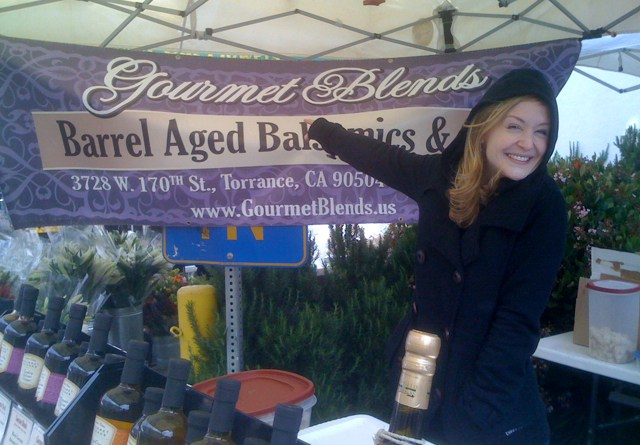 Emily of Gourmet Blends at Larchmont Farmers Market