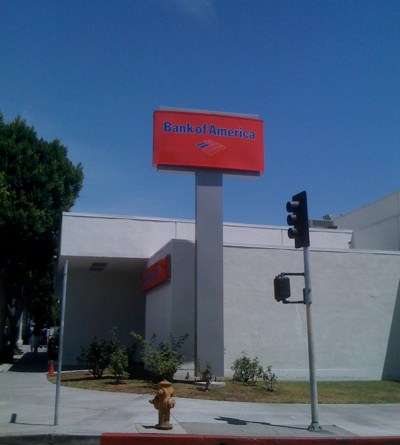 Bank of America in Larchmont Village, Los Angeles