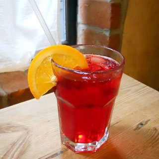 Sparkling Hibiscus Tea at Le Pain Quotidien NY