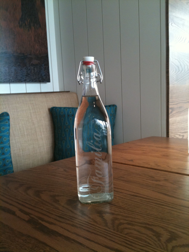Bottle of Water at Cafe Gratitude