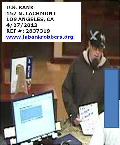Gone Plaid Bandit at Larchmont Village US Bank Robbery?