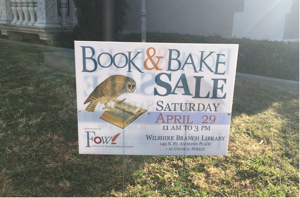 Book & Bake Sale April 2017