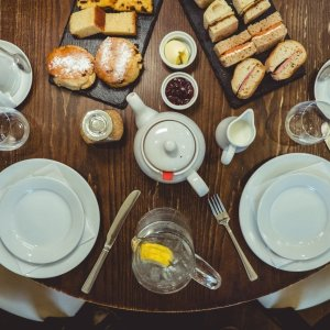 rustic afternoon tea top down - Afternoon Tea