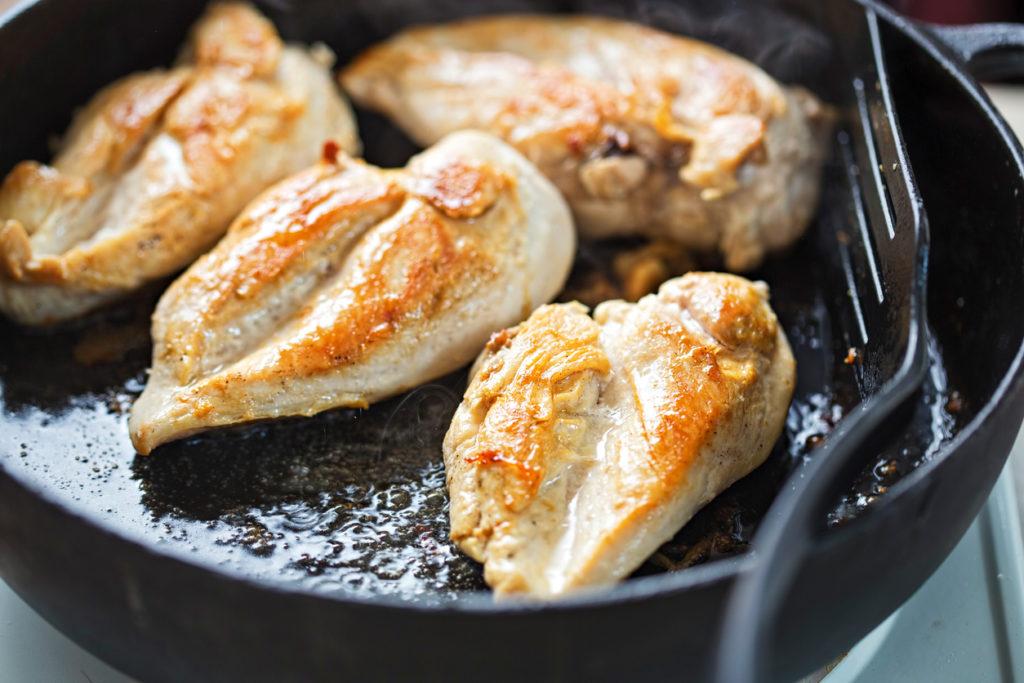 Blanc de poulet doré