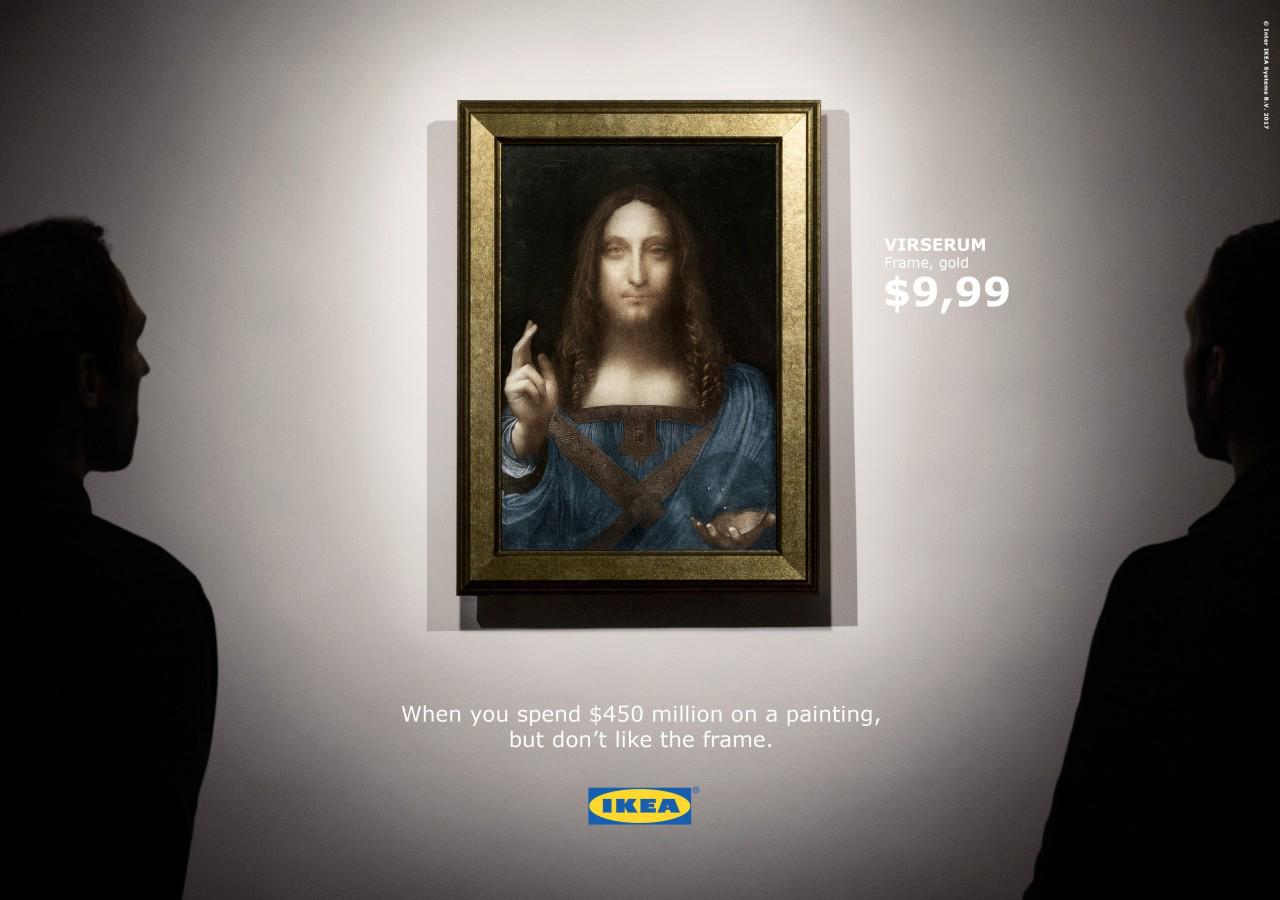 Ikea Se Moque De La Vente Du Leonard De Vinci A 450 Millions
