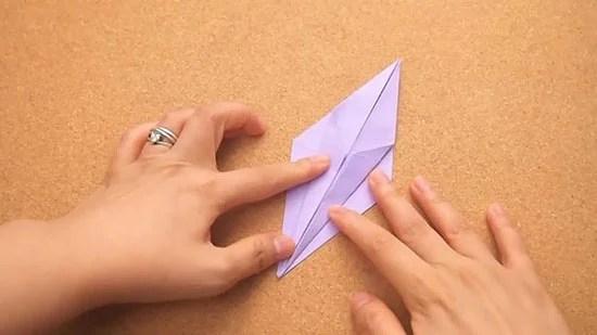 Как сделать журавлика оригами из бумаги своими руками origami zhuravlik iz bumagi 12