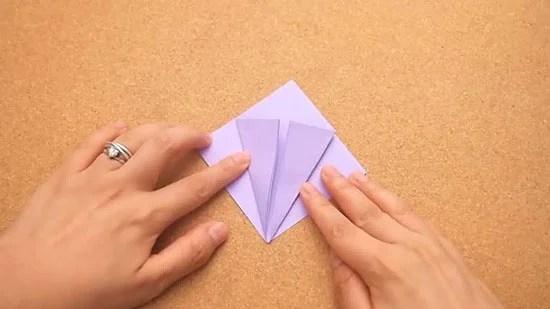 Как сделать журавлика оригами из бумаги своими руками origami zhuravlik iz bumagi 7