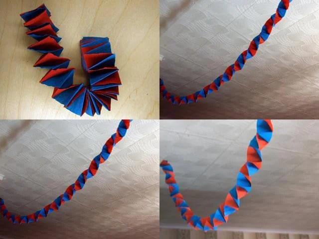 Dekorer en lejlighed til det nye år: Girlyand fra bølgepapirkurv Girlyanda Iz Gofrirovannoj Bumagi 8