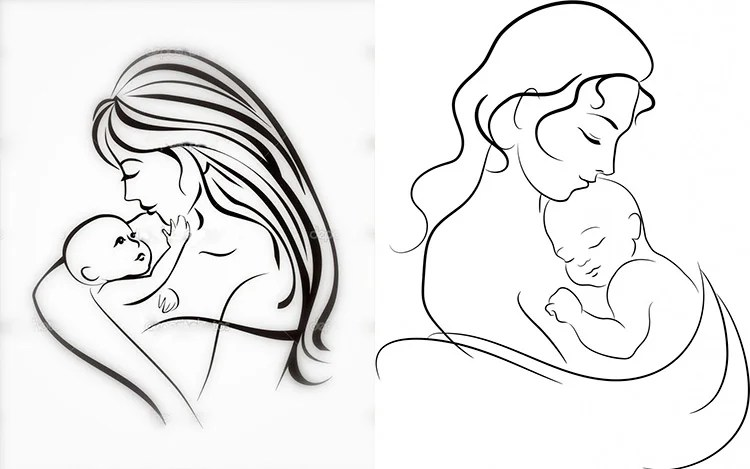 Çocukların Anneler Günü İçin Çizimleri: Annem için Aşkınızı Kağıt 34 35