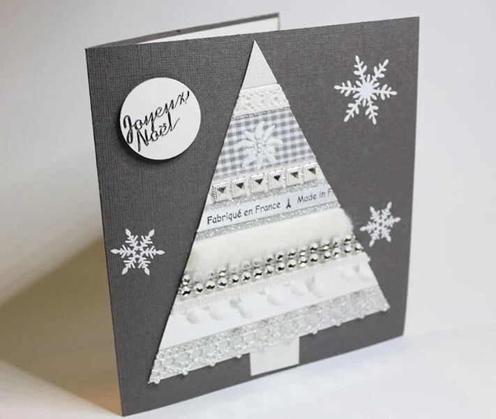 کارت پستال برای سال نو با دستان خود: صنایع دستی ساده و اصلی در مهد کودک و مدرسه Novogodnyaya otkrytka Svoimi Rukami 18