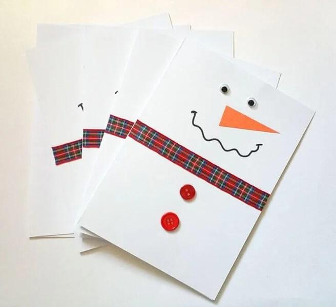 کارت پستال برای سال جدید با دستان خود: صنایع دستی ساده و اصلی در مهد کودک و مدرسه Novogodnyaya otkrytka Svoimi Rukami 33