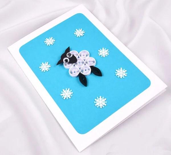 کارت پستال برای سال جدید با دستان خود: صنایع دستی ساده و اصلی در مهد کودک و مدرسه Novogodnyaya otkrytka Svoimi Rukami 87