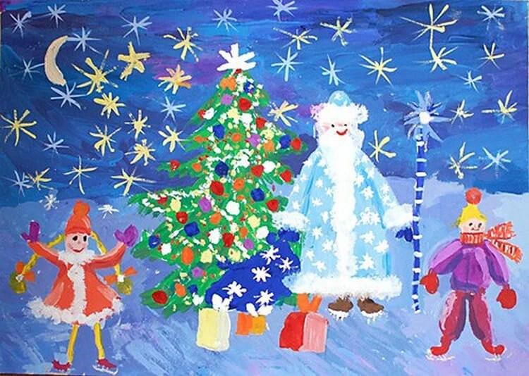 크리스마스 주제용 도면 : 새해에 그려진 것은 무엇인가 Risunki NovoDnyuyu Temu 107