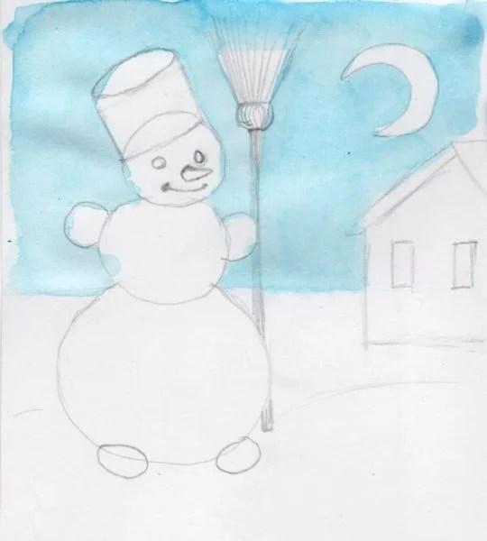 Dessins pour le sujet de Noël: Que puis-je dessiner pour la nouvelle année Risunki Na Novogodnyuyu Temu 117