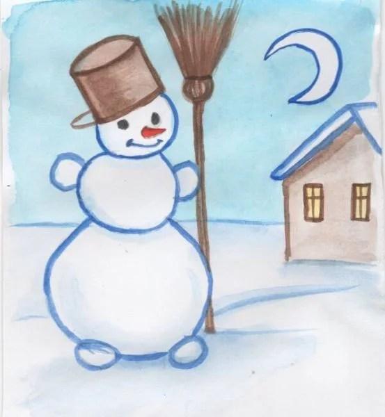 Dessins pour sujets de Noël: Que peut-on tirer sur la nouvelle année Risunki Na Novogodnyuyu Temu 121