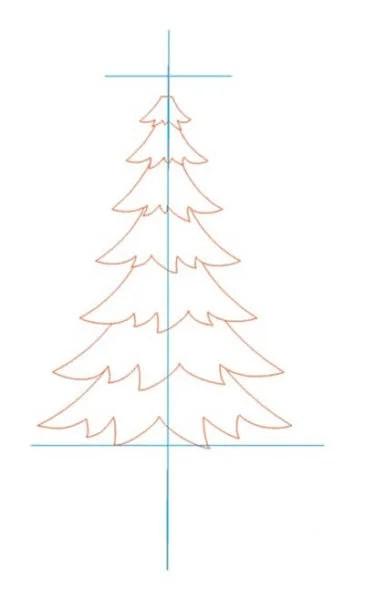 Dessins pour sujets de Noël: Que peut-on tirer sur la nouvelle année Risunki Na Novogodnyuyu Temu 19
