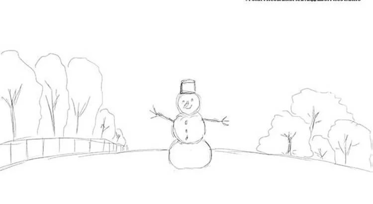 크리스마스 주제를위한 도면 : 새해에 그려 질 수있는 일은 risunki novodnodnyuyu temu 37