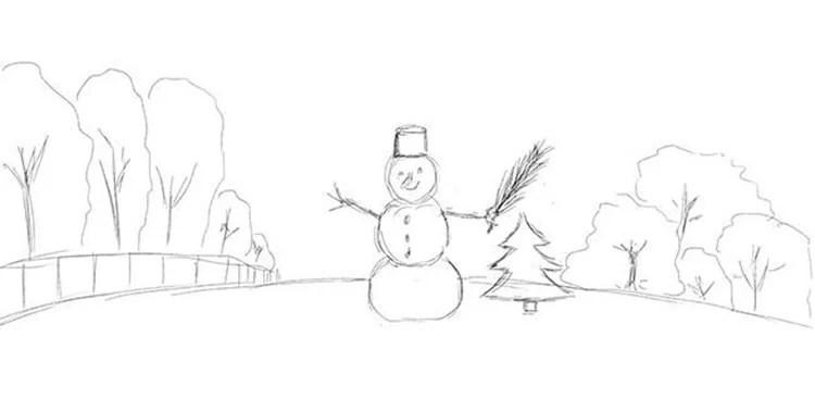 크리스마스 주제를위한 도면 : 새해에 그려 질 수있는 것은 risunki novodnodnyuyu temu 39