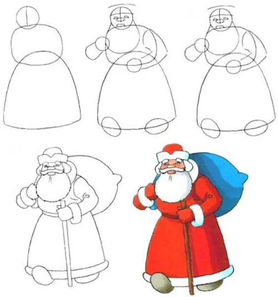 크리스마스 주제용 도면 : 새해에 그려진 것은 risunki novodnyuyu temu 4