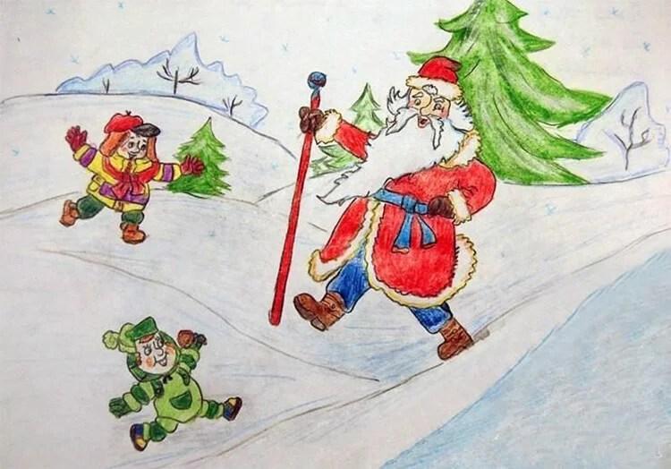 Рисунки на новогоднюю тематику: что можно нарисовать на Новый год risunki na novogodnyuyu temu 60