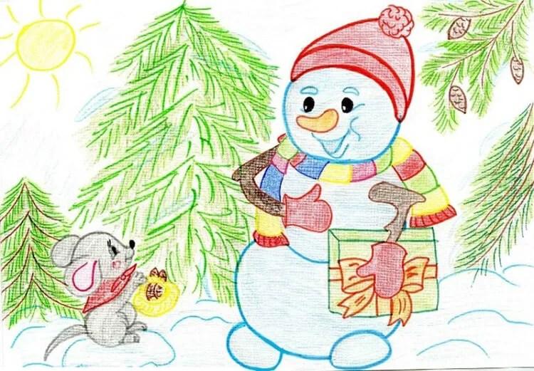 크리스마스 주제용 도면 : 새해에 그려지는 것은 무엇인가 Risunki Novodnyuyu Temu 61