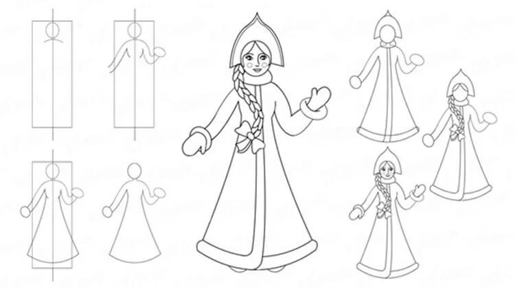크리스마스 주제용 도면 : 새해를 위해 무엇을 그릴 수 있습니다 Risunki Novodnyuyu Temu 7