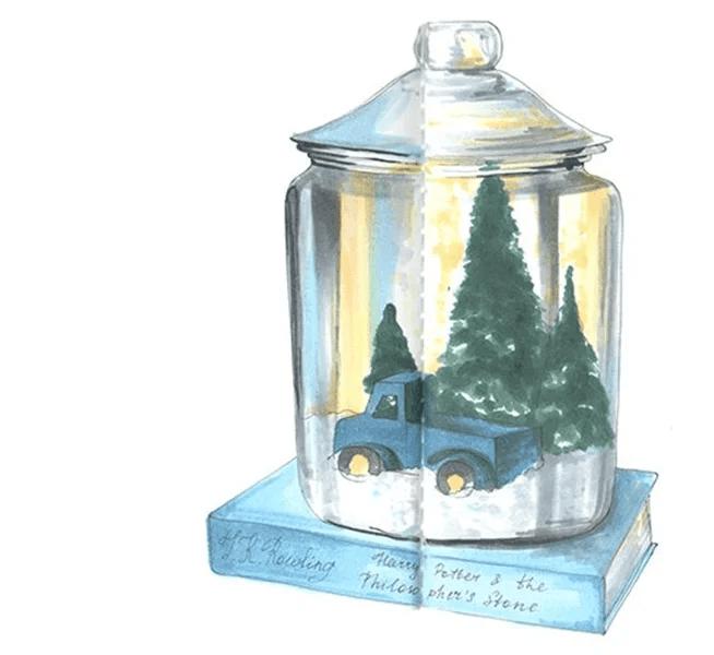 크리스마스 주제용 도면 : 새해에 무엇을 그릴 수 있는지 Risunki Novodnyuyu Temu 71
