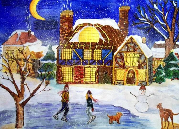 크리스마스 주제용 도면 : 새해를 위해 무엇을 그릴 수 있습니까? Risunki Novodnyuyu Temu 82