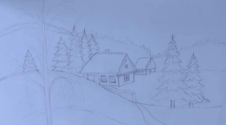 Dessins pour sujets de Noël: Que peut être tiré sur la nouvelle année Risunki Na Novogodnyuyuu Temu 89