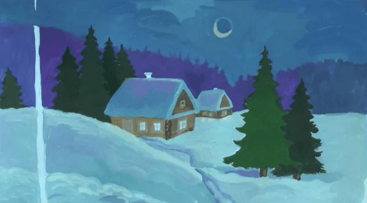 크리스마스 주제용 도면 : 새해에 그려지는 것은 무엇인가 Risunki Novodnyuyu Temu 91
