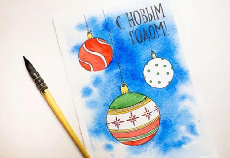 Рисунки на новогоднюю тематику: что можно нарисовать на Новый год risunki na novogodnyuyu temu 93