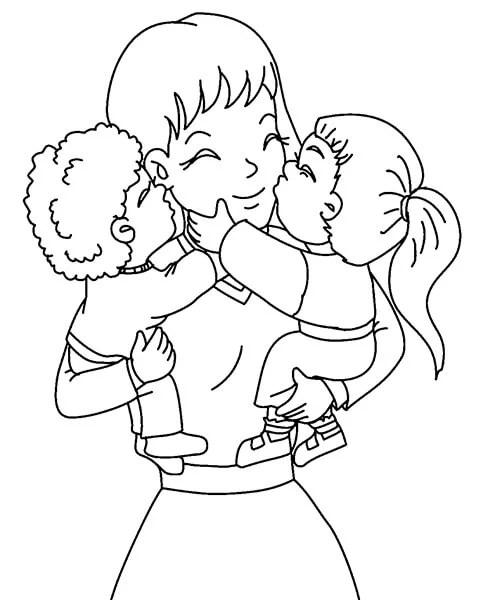 Çocukların Anneler Günü'ndeki Çizimleri: Paper'da Anne İçin Sevginizi Ekspres Risunok Na Den Materi 20