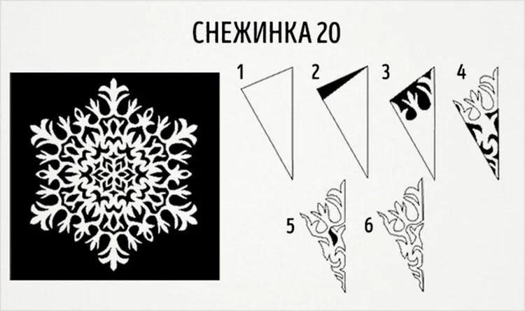 新年美丽的原始雪花:创建自己的手,模板与照片Snezhinki Iz Bumagi Svoimi Rukami 28