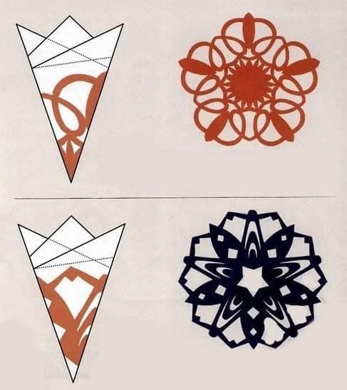 新年美丽的原始雪花:创建自己的手,模板与照片Snezhinki Iz Bumagi Svoimi Rukami 93