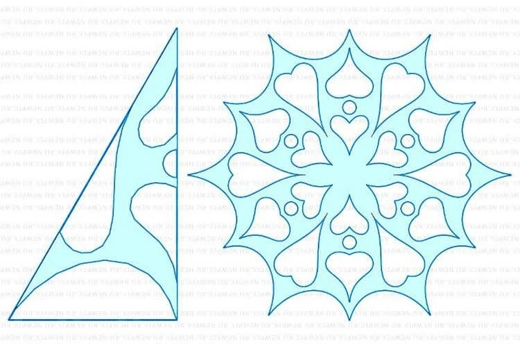 Жаңа жылға арналған әдемі түпнұсқа снежинкалар: өз қолдарыңызды, шаблондарыңызды жасаңыз, Snezhinki iz bumagi svoimi rukami 98