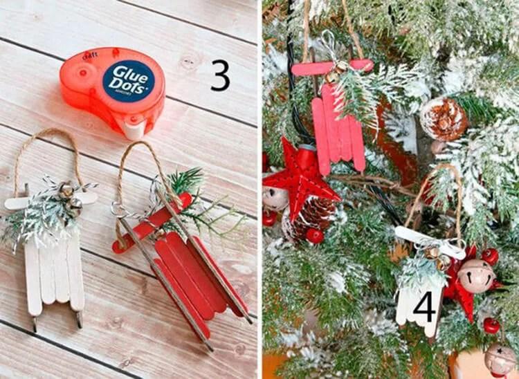 Joulukuusi leluja joulukuusi omalla kädellään: mitä voidaan tehdä uudenvuoden Elochnaya Igrushka Svoimi Rukami 63